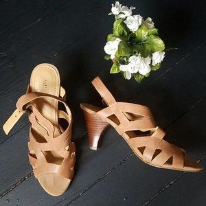 🍂 Nine West Leather Strapped heels